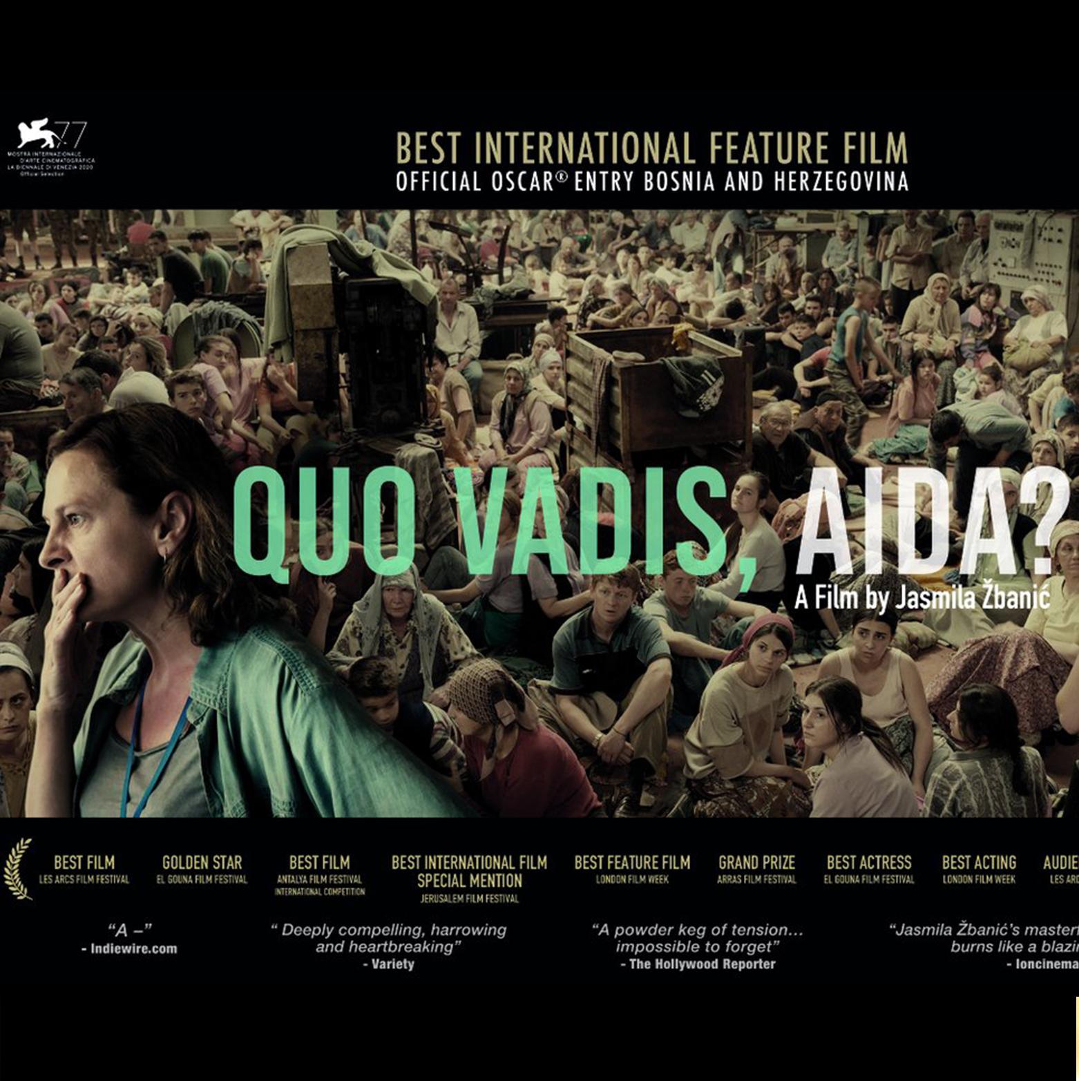 "The film ""Quo Vadis Aida?"" starring Jasna Djuricic and Boris Isakovic"